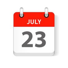 July 23 Calendar Date Design