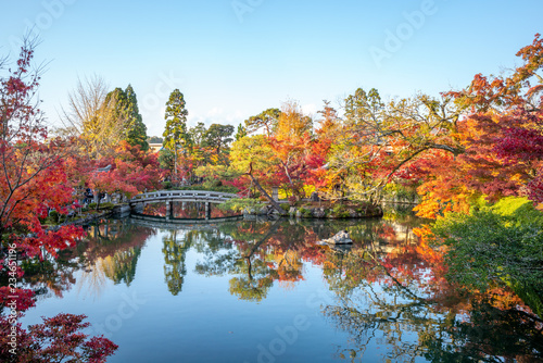 Photo sur Aluminium Piscine autumn foliage at zenfin Temple in Kyoto, Japan
