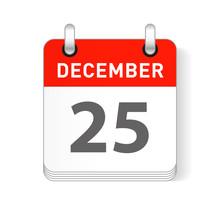 December 25 Calendar Date Design