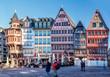 Alte Fachwerkhäuser auf dem Römerberg in Frankfurt am Main
