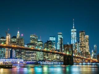 Fototapeta na wymiar ニューヨーク ブルックリン・ブリッジとマンハッタン