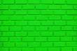 Leinwanddruck Bild - Green Brick Wall Background