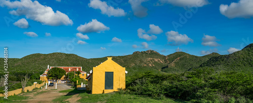 views around Knip Landhouse and beach on the Caribbean islland of Curacao Canvas Print