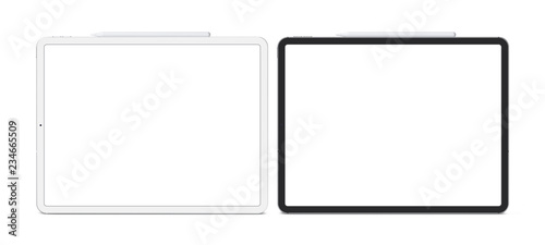 Tablets in the new version. Template, mockup.