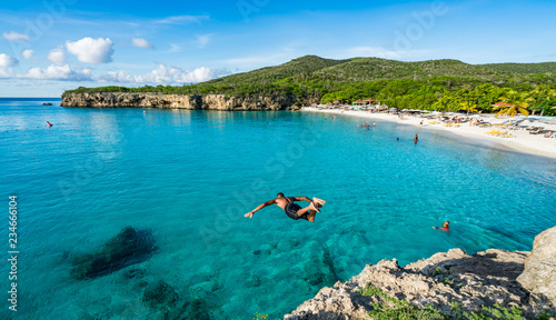Foto views around Knip Landhouse and beach on the Caribbean islland of Curacao