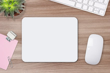 Mouse Pad Mockup. White Mat On...