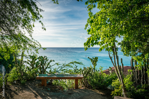 Garden Poster Cyprus views around Knip Landhouse and beach on the Caribbean islland of Curacao
