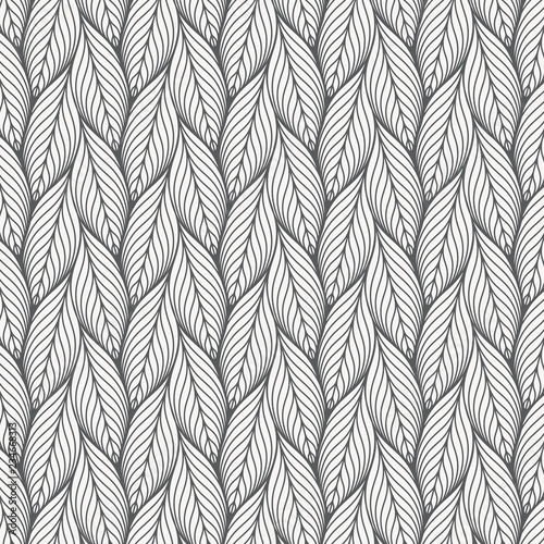 abstract linear leaves vector pattern, repeating small skeleton leaf, clean stylish vector for background, wallpaper, fabric. pattern is on swatches .