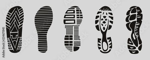 footprint sport shoes Canvas Print