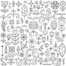 Vector Line Set Of 90 Scandina...