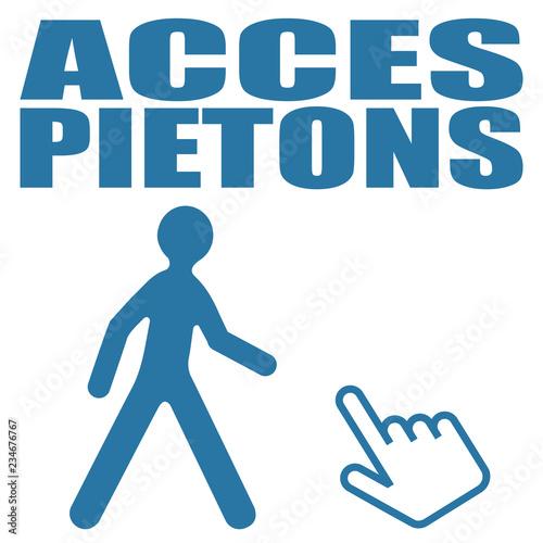 Photo Logo accès piétons.