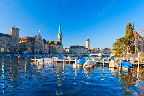Fotobehang Zwaan Zürich, Schweiz