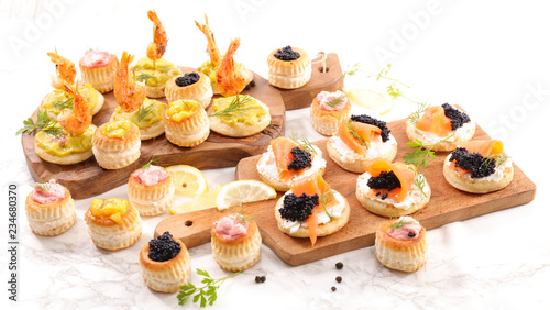 Papel de parede assorted finger food- buffet