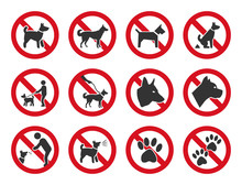 No Dogs Allowed, Dog Prohibition Sign Set