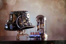 Steampunk Cappello E Collezione Orologi