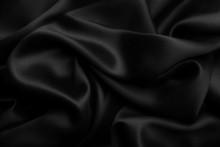 Black Satin Silk, Elegant Fabric For Backgrounds