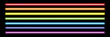 horizontal rainbow neon tube lights on black,vector illustration
