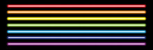 Horizontal Rainbow Neon Tube L...