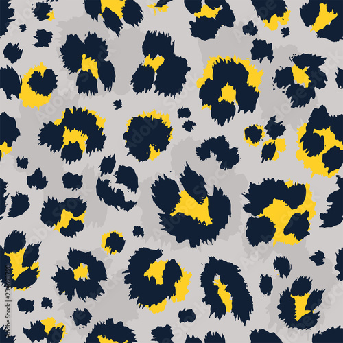 Leopard pattern design funny drawing seamless pattern Canvas Print