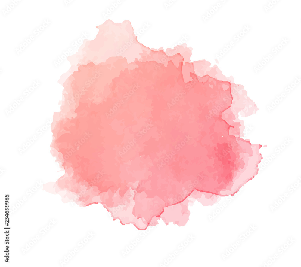 Fototapety, obrazy: Water color pink backgroung texture