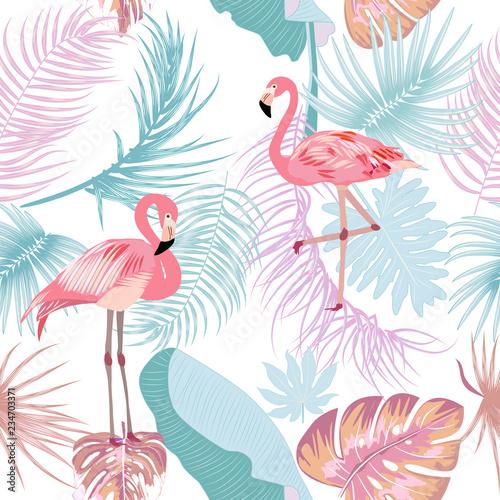 bezszwowy-wzor-flaming-opuszcza-monstera-tropikalne-liscie-drzewa-palmowego-i-kwiatow