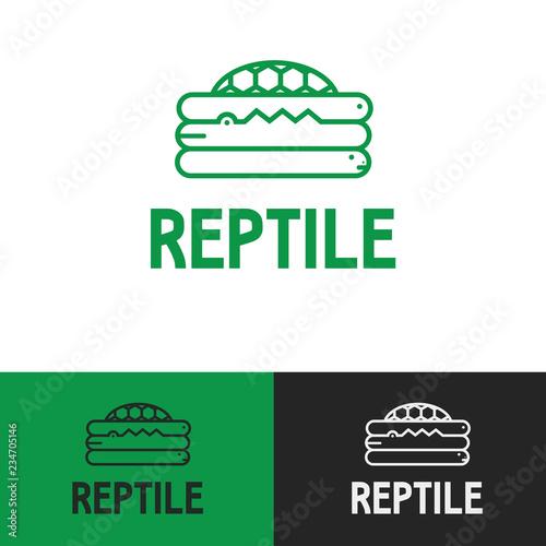 Fun Friendly Modern Minimal Green Exotic Reptile Pet Store