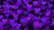 Leinwanddruck Bild - Love hearts background St. Valentine's day concept purple