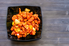 Sweet And Sour Chicken In Blac...