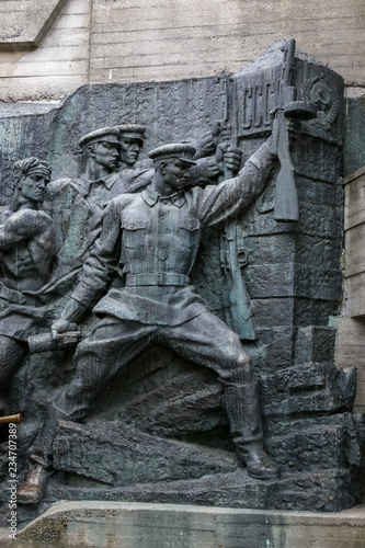Poster Historisch mon. Military Monument in Kiev, Ukraine