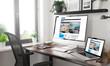 black and white responsive devices mockup responsive e-magazine