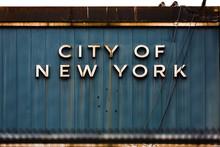 Inscription City Of New York O...
