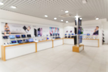 Blurred Image Of Electronic Department Store