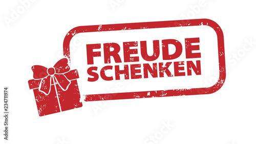 Stempel - Freude Schenken - Geschenk - Freude Schenken Wallpaper Mural