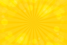 Sunburst Yello Wrays Pattern. Radial Sunburst Ray Background Vector Illustration