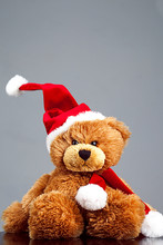 Teddy Bear In Santa Hat