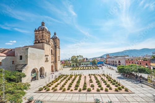 Foto auf AluDibond Pool Beautiful view of Santo Domingo Old Monastery in Oaxaca, Mexico