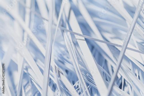 Fotografie, Obraz  White Shredded paper texture for background. Selective focus