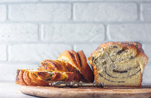 Homemade Poppy Seed Braided Bread . Wreath. National Pastries. Babka.