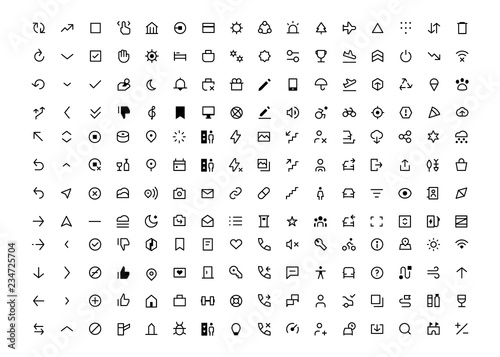 Transportation line icons set ui app and website Icon set ride, ride sharing, ta Canvas Print