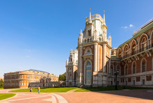The Grand Palace, Tsaritsyno Park, Moscow, Russia