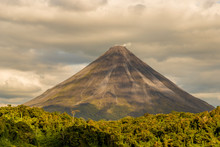 Volcano Arenal, Seen From Lake Arenal