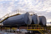 Oil Industry. Oil Storage Tank...