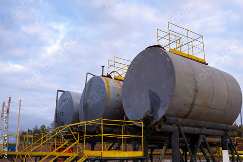 Oil industry  Oil Storage Tanks for petroleum products at