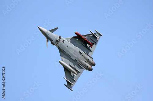 A Typhoon fighter jet is taking off Canvas Print