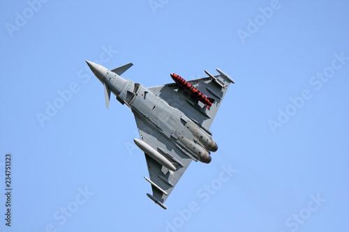 A Typhoon fighter jet is taking off Fototapeta