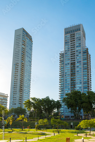 Fotobehang Stad gebouw Buenos Aires - January 24, 2016: Skyscrapers and architecture, Buenos Aires