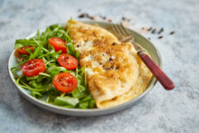 Classic Egg Omelette Served Wi...