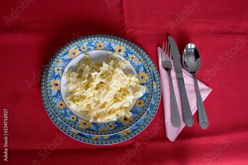 Fotografie, Obraz  Polish Sunday dinner of pasta.