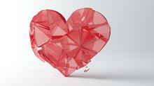 Glass Heart Broken In Pieces.