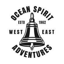 Nautical Ship Bell Vector Vint...